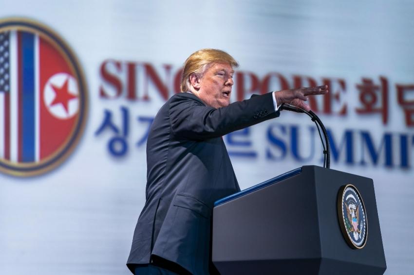 Trump: Kuzey Kore'ye yaptırımlar devam edecek