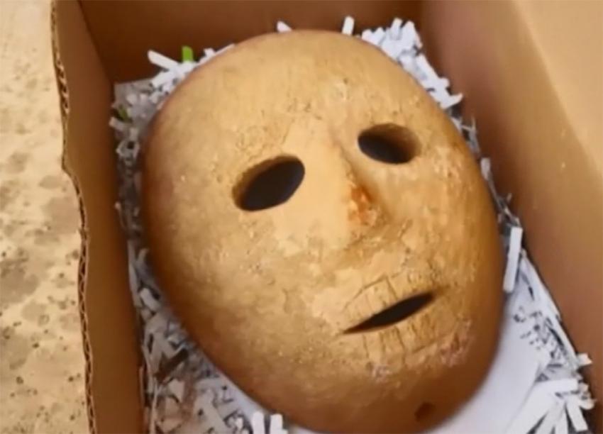 El Halil'de 9 bin yıllık maske bulundu