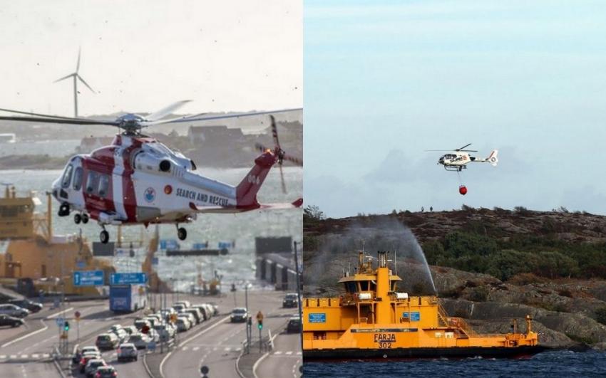 İsveç'te adada korkutan yangın