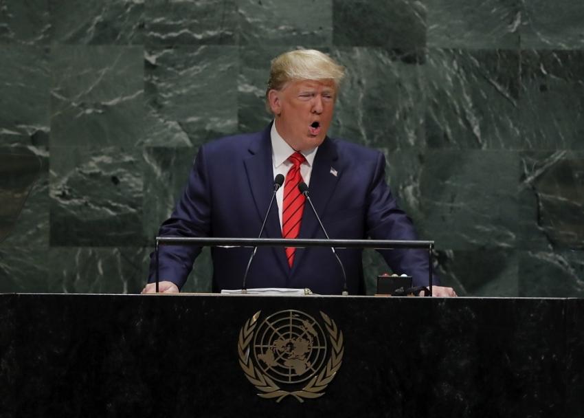 """Trump: """"Dünyadaki ülkelerin karşısındaki en büyük tehlike İran'ın baskıcı rejimidir''"""