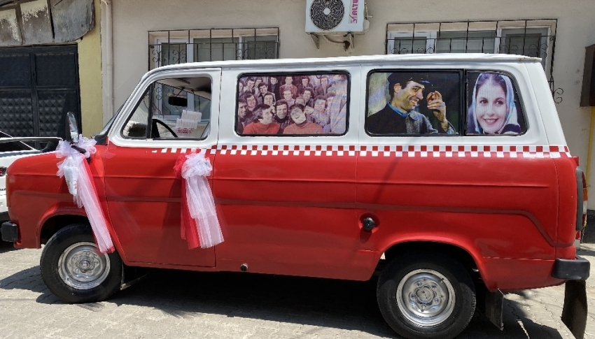 Bursa'da nostalji dolu minibüs