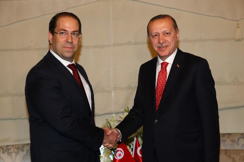 Cumhurbaşkanı Erdoğan, Tunus Başbakanı'nı kabul etti