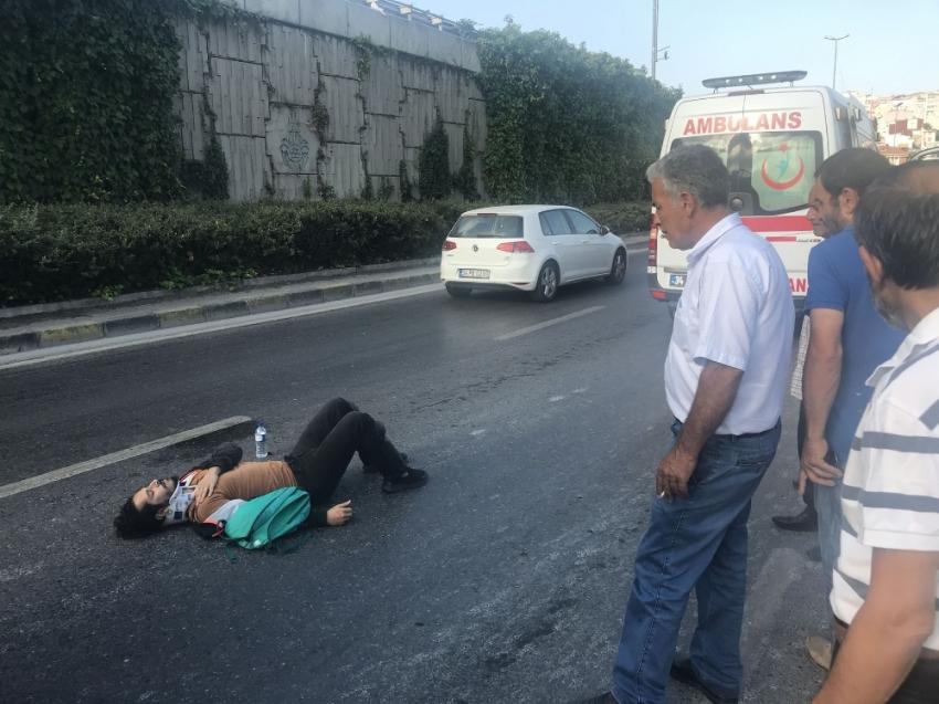 Ünlü tiyatrocu eşiyle kaza geçirdi