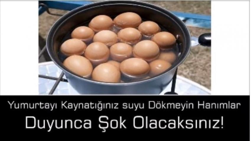 Kaynamış yumurta suyunun inanılmaz etkisi