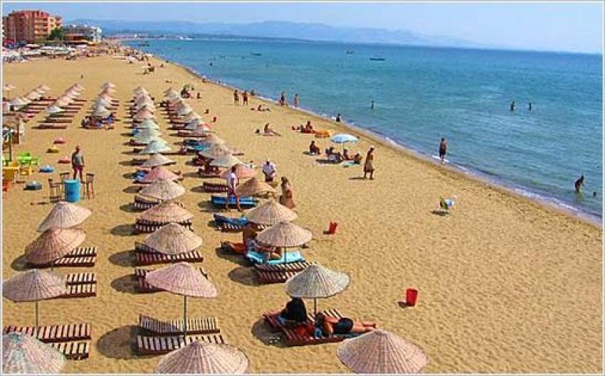 Sarımsaklı Plajı'nda tepki çeken görüntüler