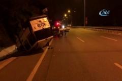 2 aracın takla attığı kaza