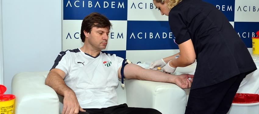 Bursaspor'da kan testleri yapıldı
