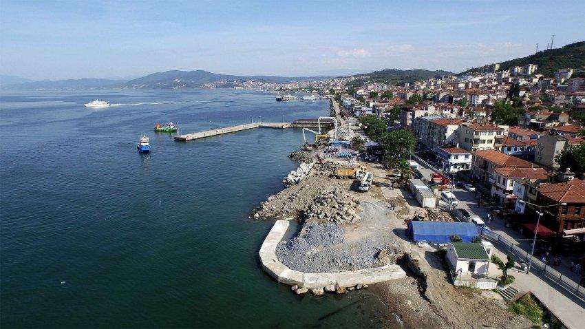 Bursa sahillerinde dönüşüm başladı