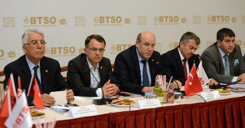Tekstil sektörünün standartları BTSO'da belirleniyor