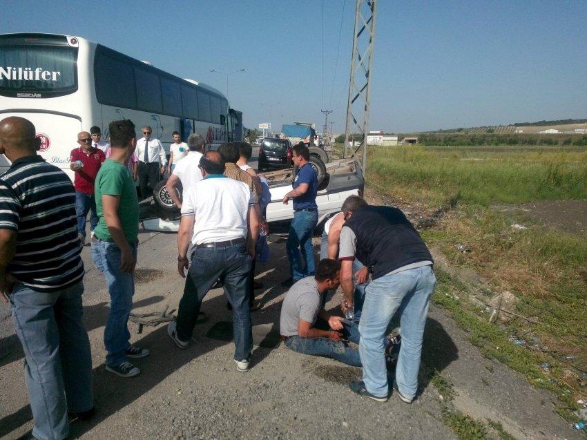 Bursa'da aşırı hızla gelen kaza! 7 yaralı...