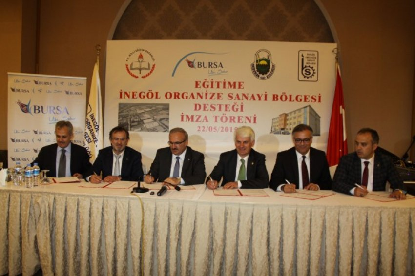 Bursa'da 24 derslikli okulun protokolü imzalandı!