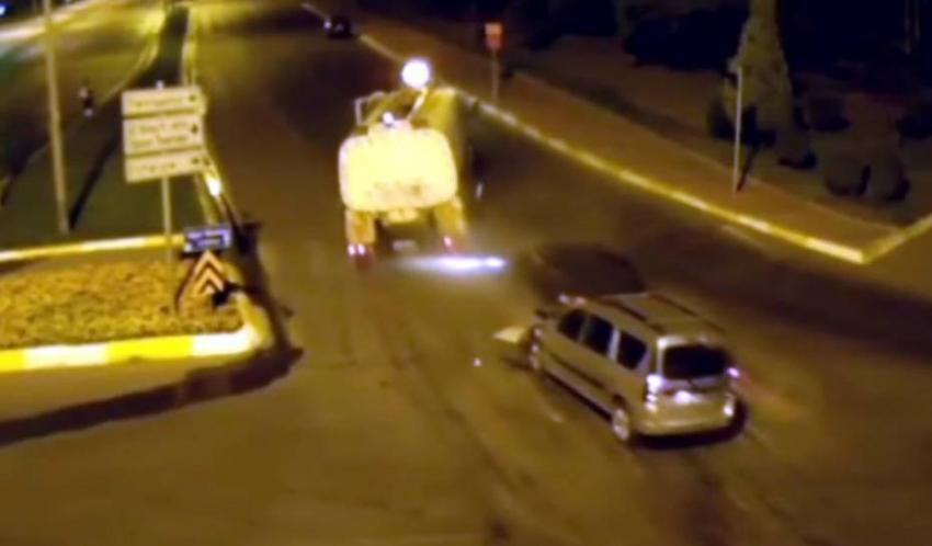 Bursa'daki trafik kazaları MOBESE'de