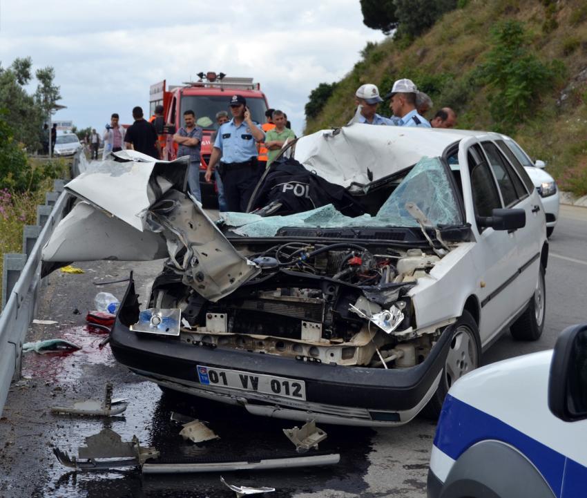 Bursa'da polis bu kazada can verdi