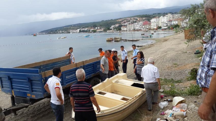 Bursa'da sahiller sandallardan temizlendi