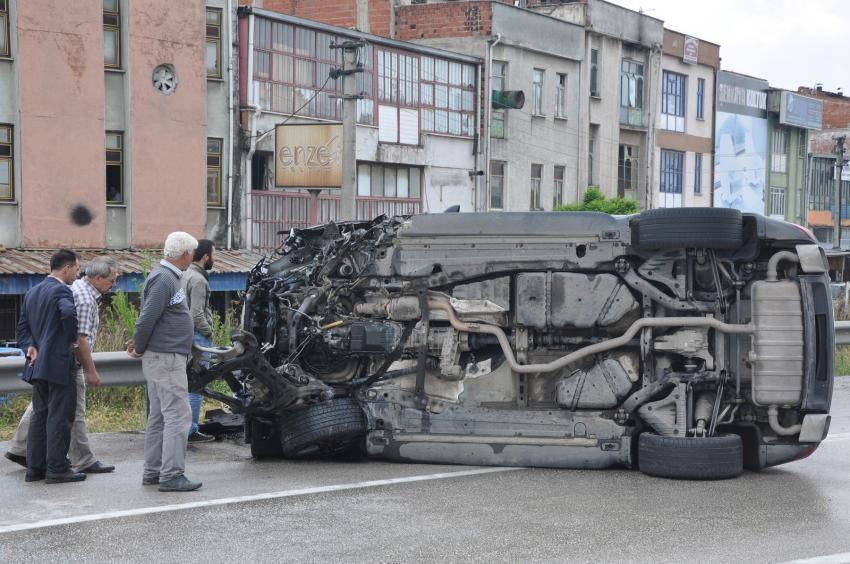 Bursa'da bu kazadan yara almadan kurtuldu