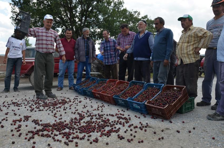 Bursa'da üretici yol kapattı