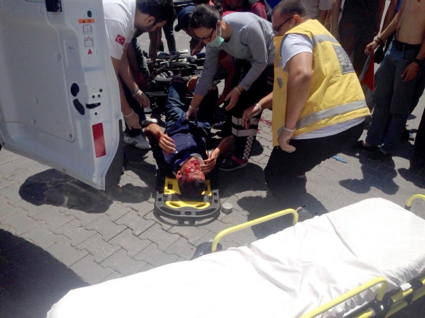 Bursa'da kasksız motosiklet sürücüsü ağır yaralandı