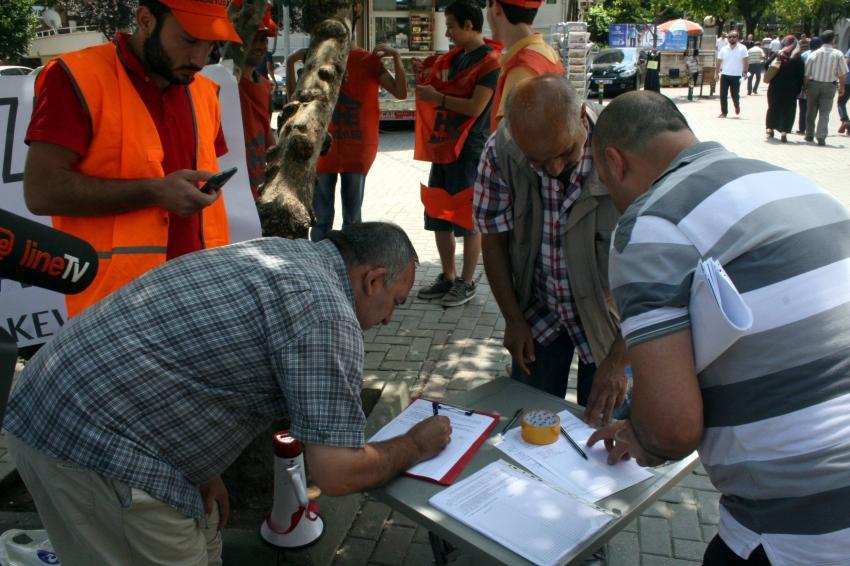 Bursa'da ulaşım zammına protesto
