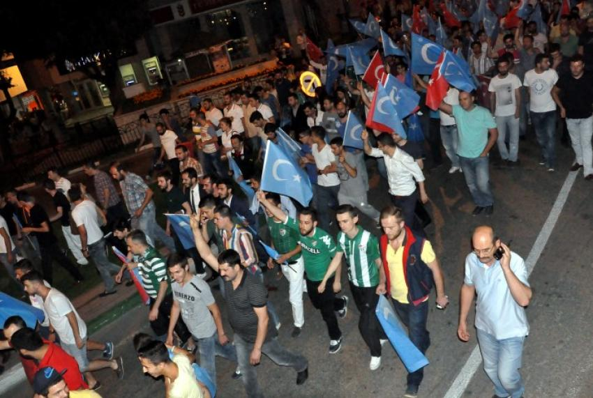 Teksas'tan Doğu Türkistan'da yapılan zulme protesto