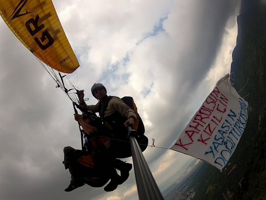 Bursa'da 800 metre yükseklikte protesto!