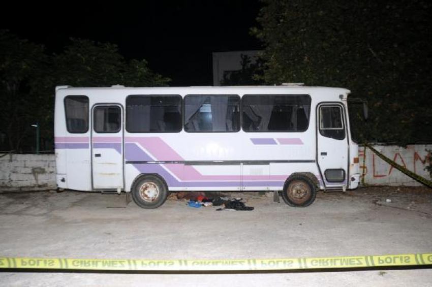 Otobüsün altında ceset bulundu