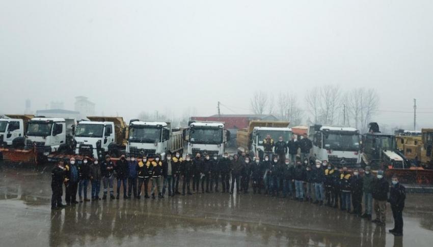 Kar yağışı beklentisi özel idare ekiplerini alarma geçirdi