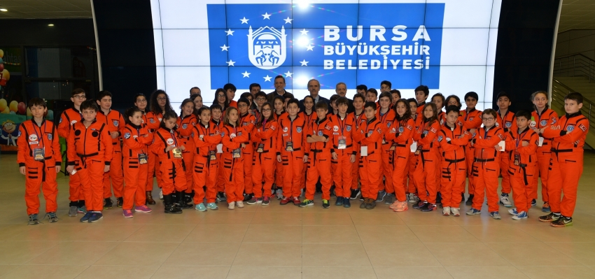 Bursalı küçük astronotlar 'Mars'ta bir gece' geçirdi