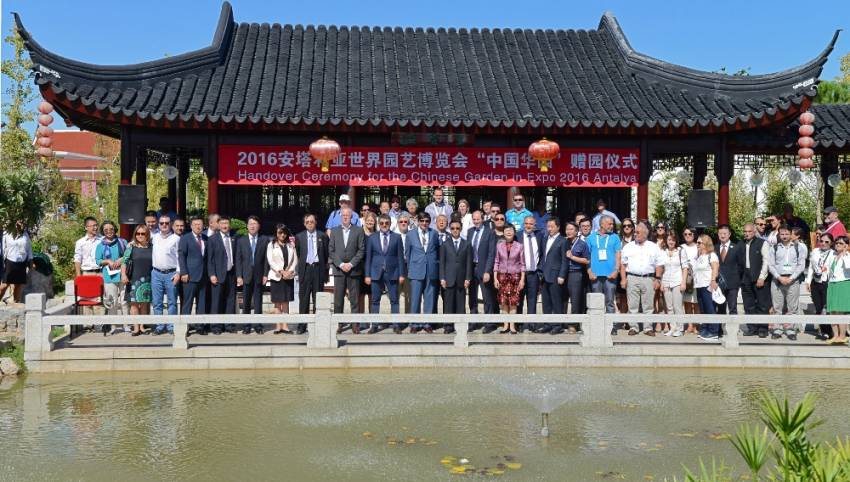 'Çin Bahçesi' Antalya'ya hediye edildi