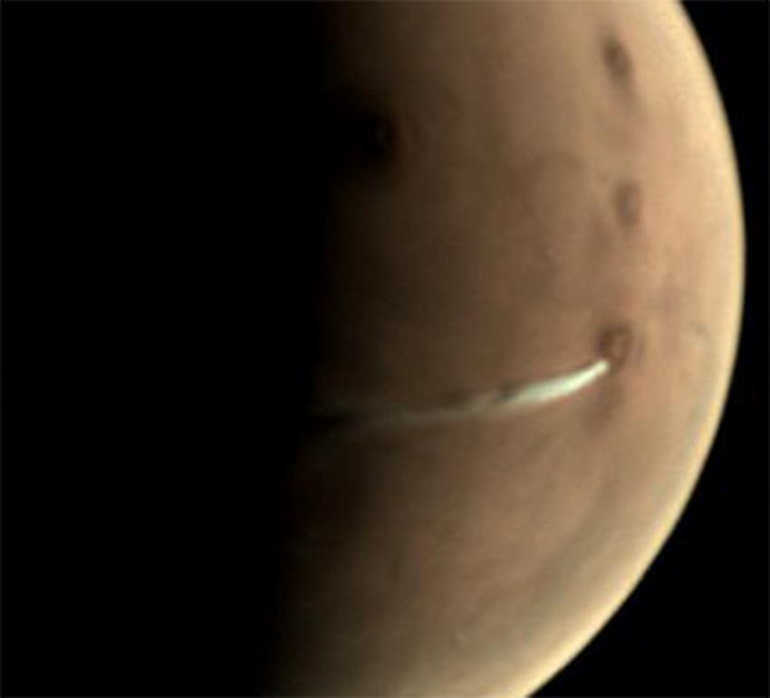 Mars'ta görülen bulutun esrarı çözüldü