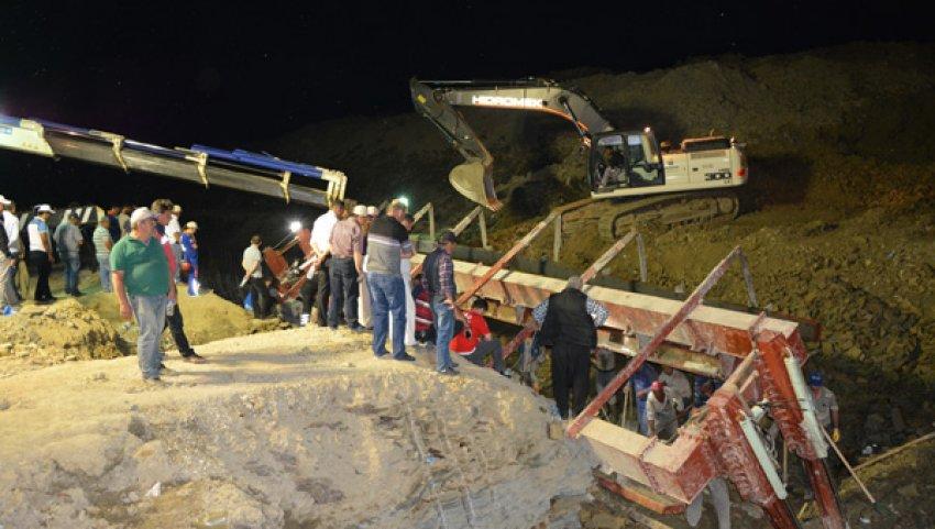 Edirne'de göçük altında kalan işçiden acı haber