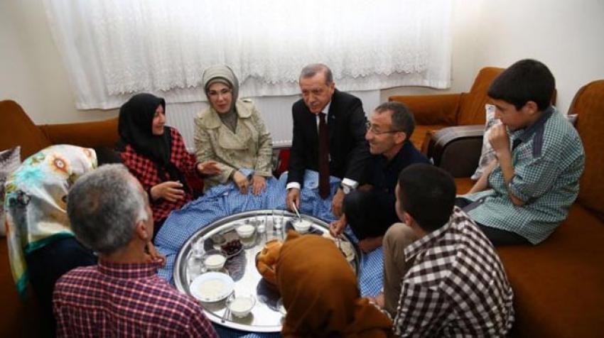 Erdoğan iftar sofrasında!
