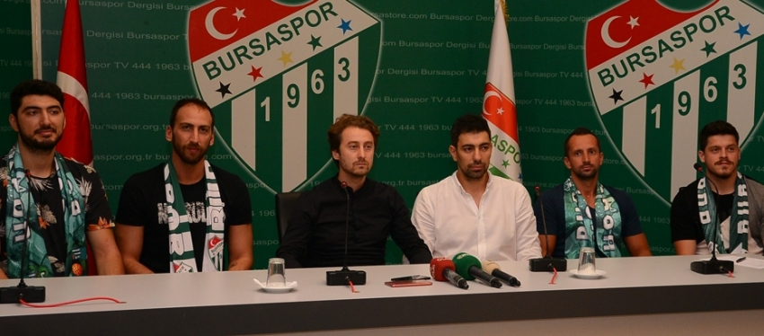 Bursaspor'un yenileri imzaladı