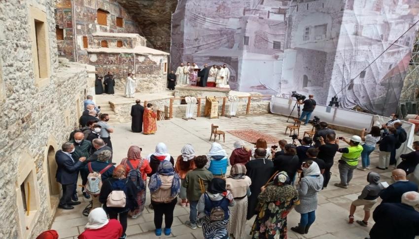 Sümela Manastırı'nda 5 yıl aradan sonra ilk ayin