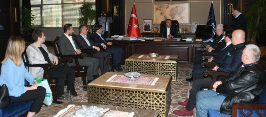 Bursaspor'dan Aktaş'a ziyaret
