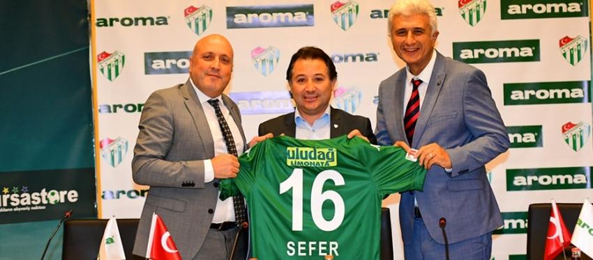 Aroma Bursaspor'a tozluk sponsoru oldu