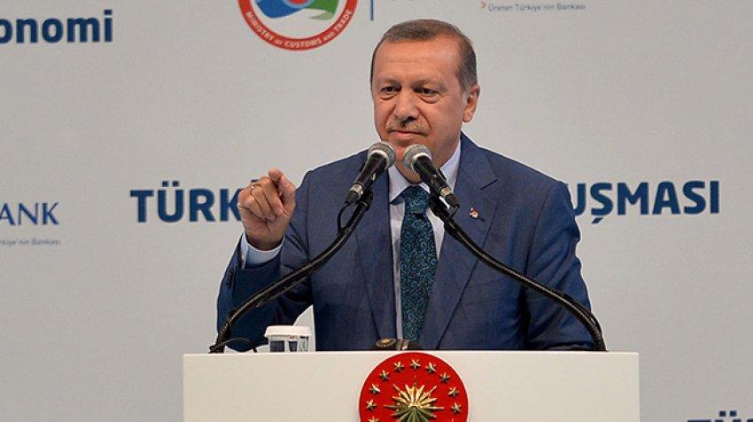 Erdoğan pankartı gösterdi, müjdeyi verdi!