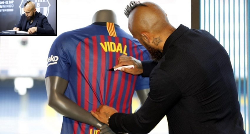Barcelona, Arturo Vidal'e kavuştu