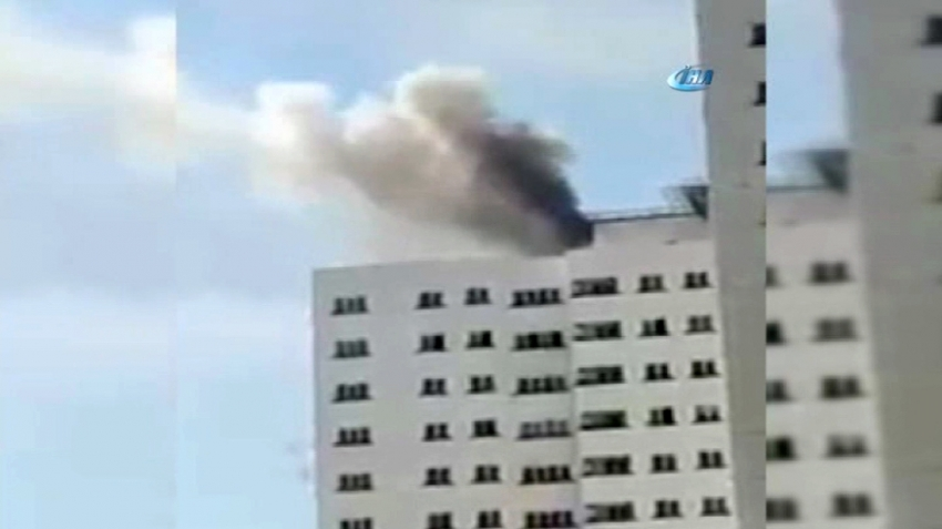 Tahran'da gökdelende yangın: 24 yaralı