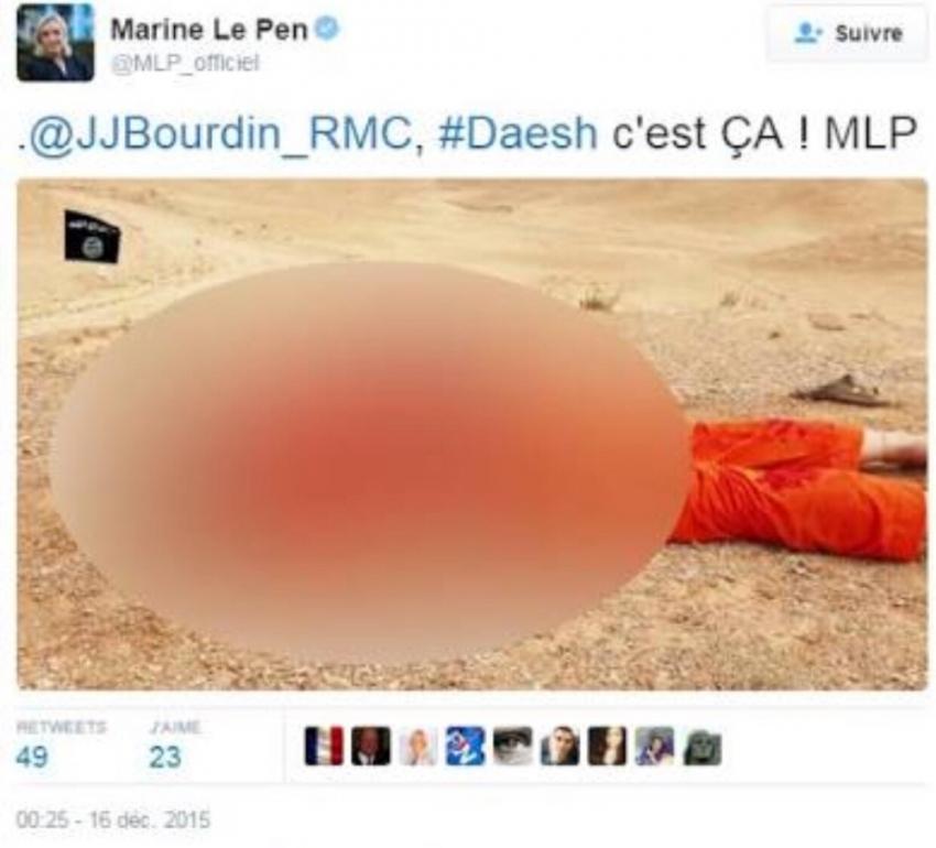 DEAŞ paylaşımları Le Pen'i dokunulmazlığından etti