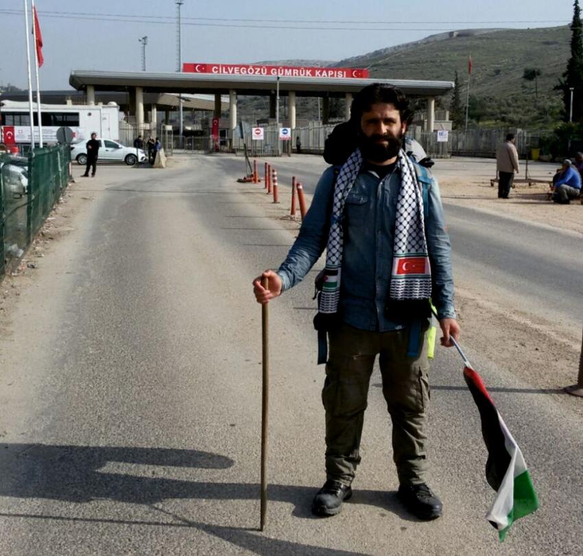 Filistin için 54 gün yürüdü