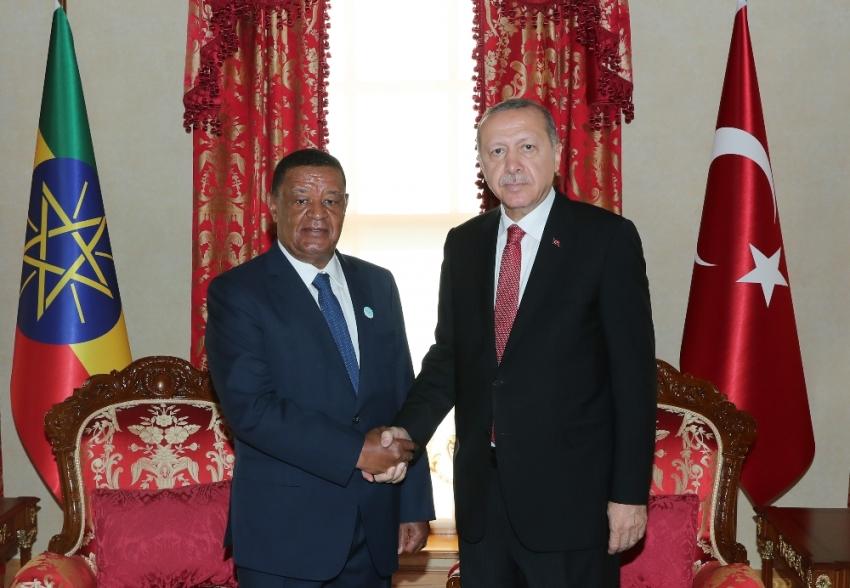 Erdoğan Etiyopyalı mevkidaşıyla bir araya geldi