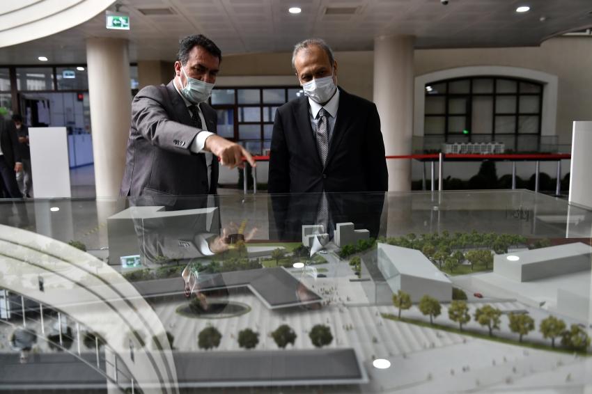 Kaymakam Partal'dan Başkan Dündar'a iade-i ziyaret