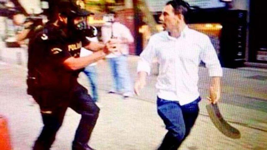 Palalı saldırgandan polis memuruna şok sözler!