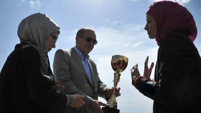 Cumhurbaşkanı Erdoğan'a  driftli karşılama!