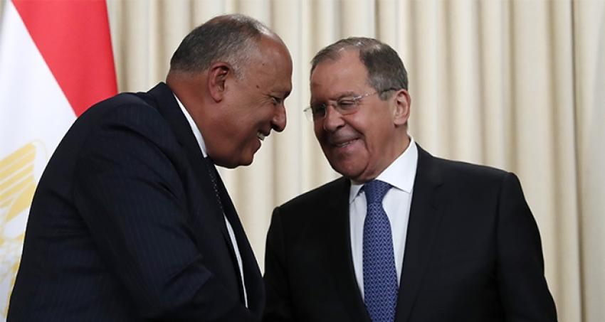 Rus ve Mısırlı dışişleri bakanları bir araya geldi