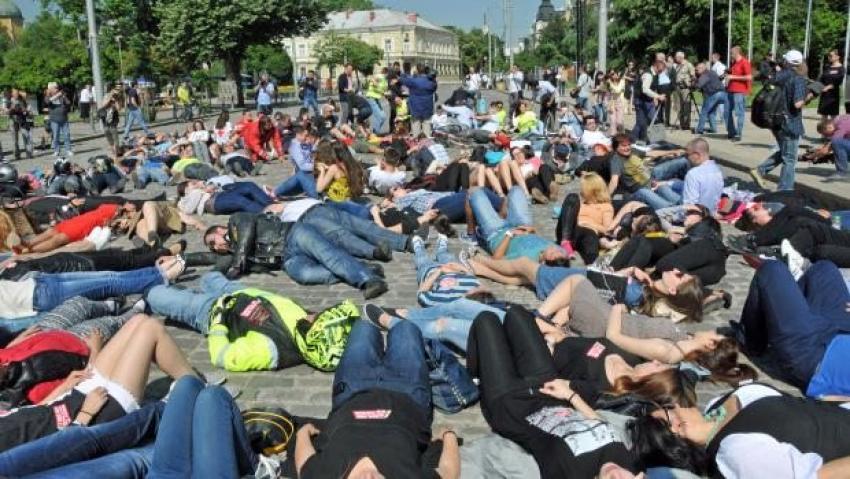 Bulgaristan'da sorumsuz sürücülere protesto