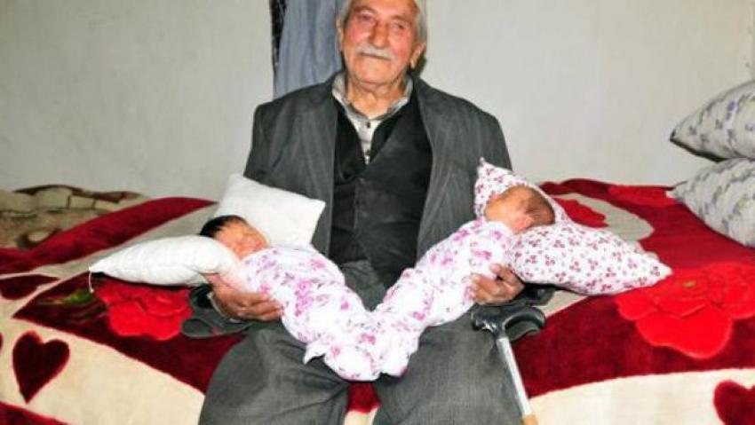 85 yaşında 'babaya' destek