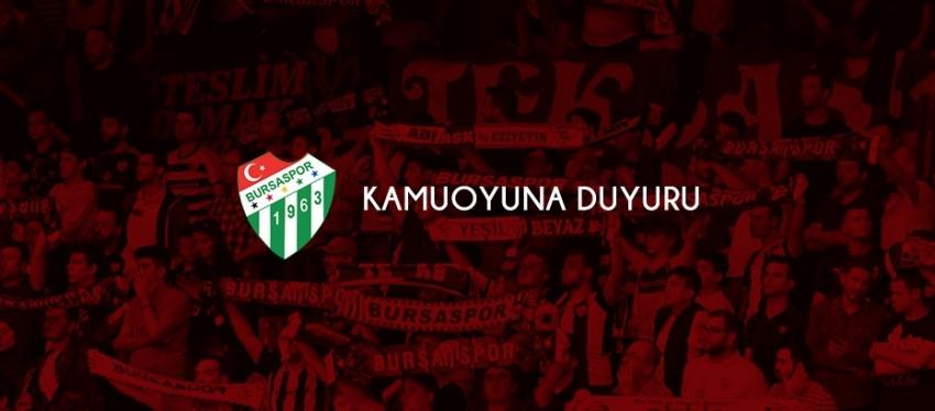 Bursaspor'dan biletlere indirim açıklaması
