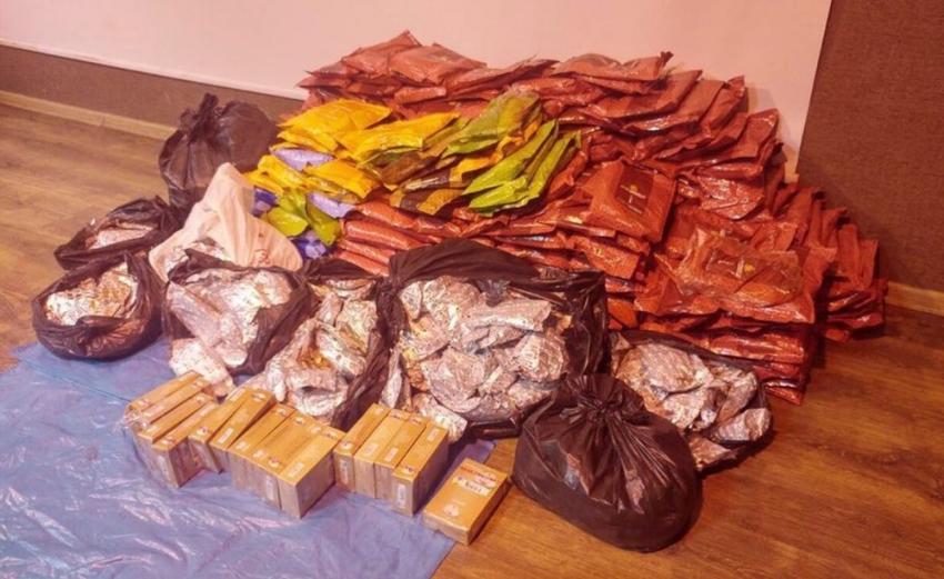 653 kilo kaçak nargile tütünü ele geçirildi
