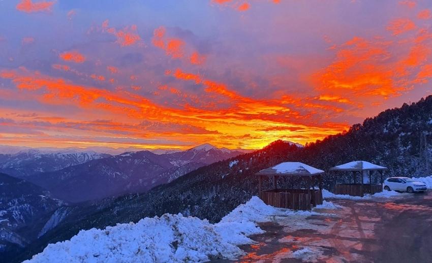 Zigana Dağında muhteşem günbatımı manzaraları